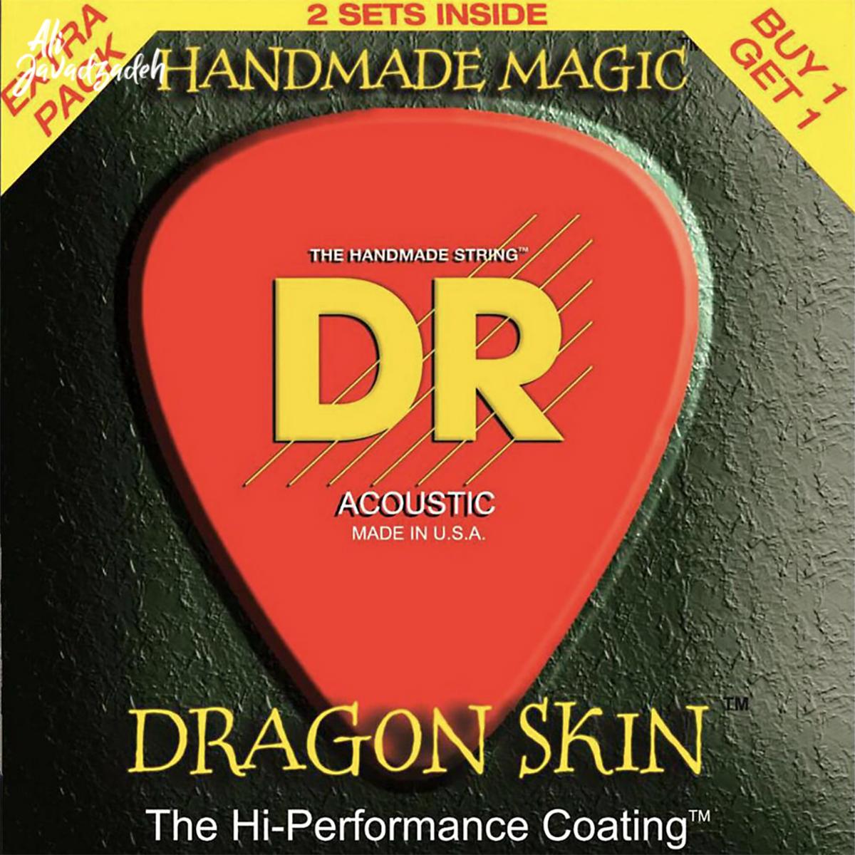 سیم گیتار آکوستیک دی آر مدل Dragon Skin
