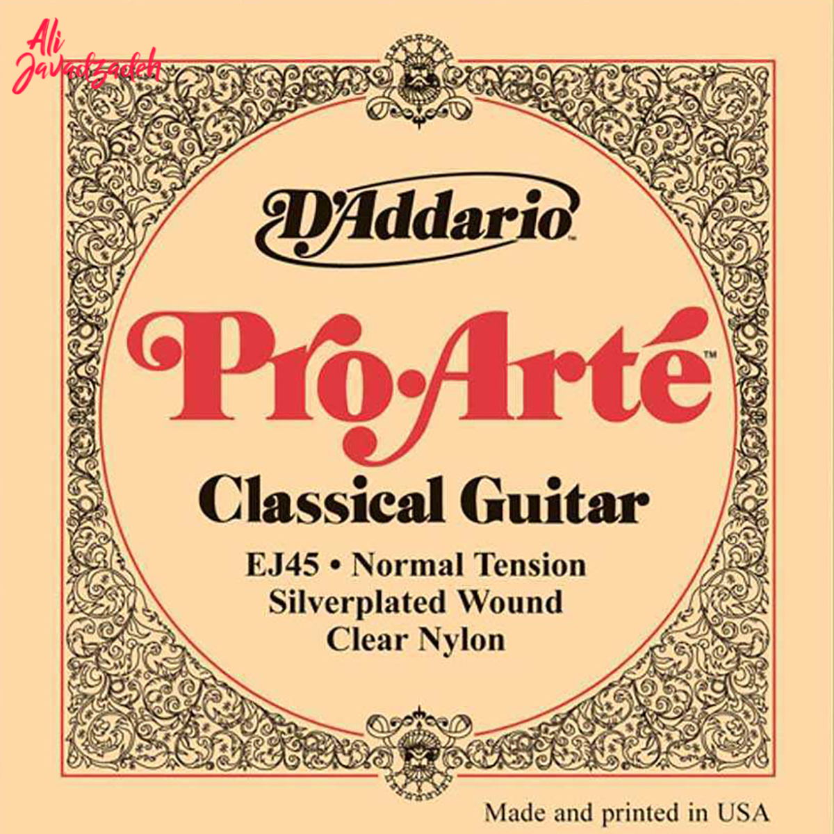 سیم گیتار کلاسیک داداریو مدل EJ45