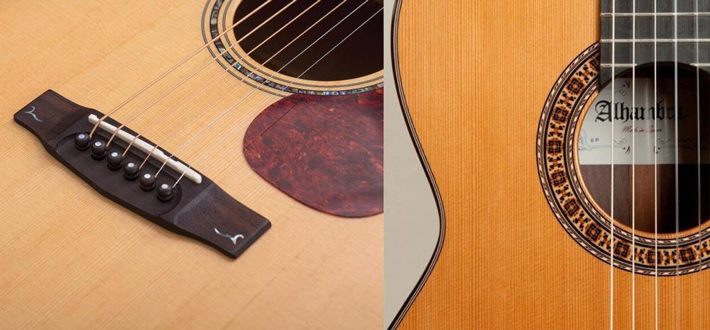 جنس سیم های به کار رفته در این دو نوع گیتار چیست ؟